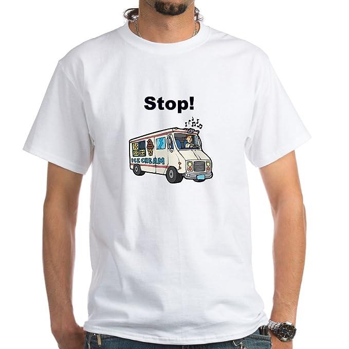 63f52de116 Amazon.com  CafePress Ice Cream Truck White T-Shirt Cotton T-Shirt ...