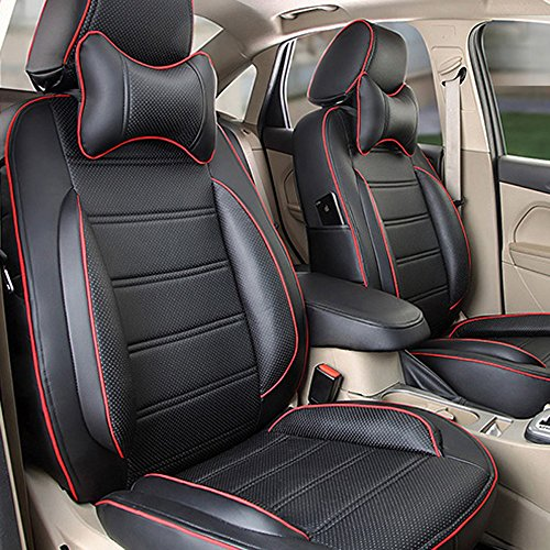 auto decorun custom fit car seat cover sets for mitsubishi outlander lancer pajero sport asx pu. Black Bedroom Furniture Sets. Home Design Ideas