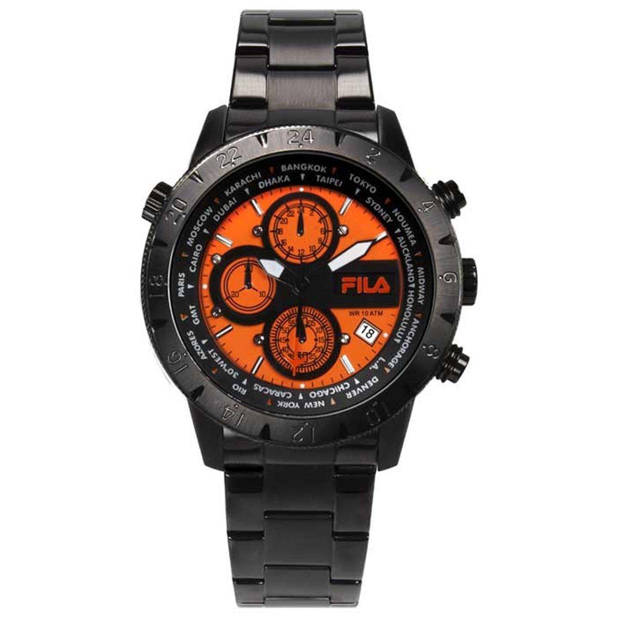 Fila Herren Uhr Chronograph Edelstahl FA38-007-005