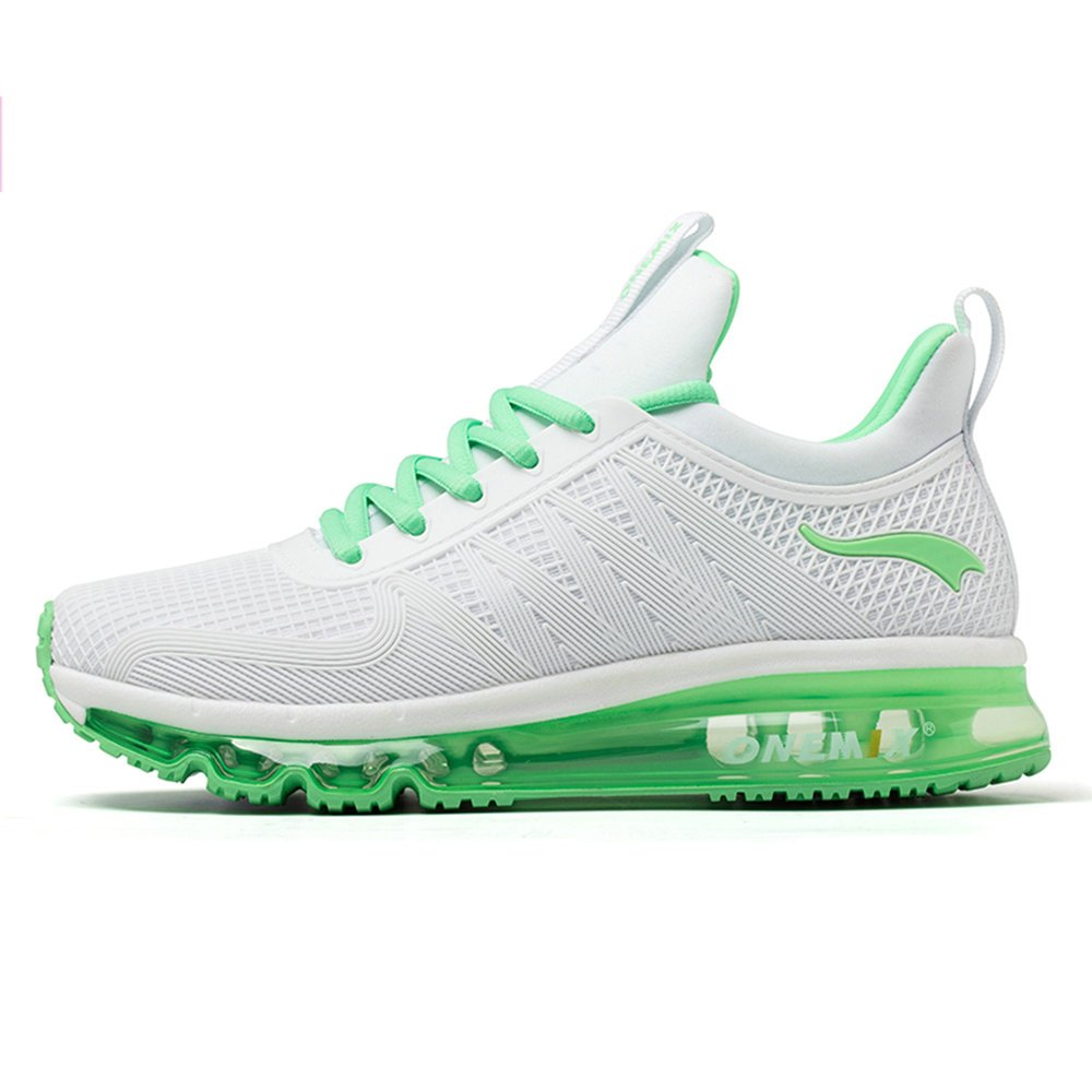 ONEMIX Air Cushion Sports Running Casual Walking Sneakers Shoes for Men and Women B078C56RWQ 4 B(M) US 8.85 inch =EUR36|Lightgreen