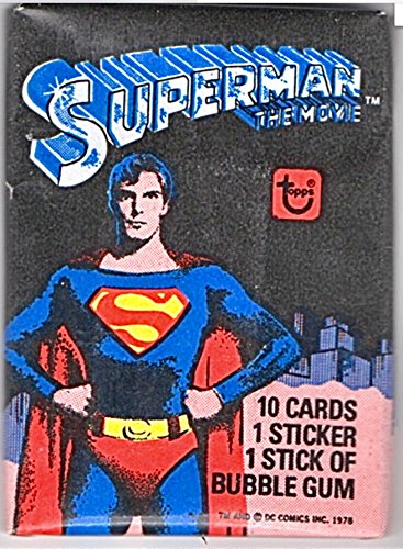 Superman 1978 1 unopened Wax Packs Topps Trading Cards Stickers Non-sport Retro