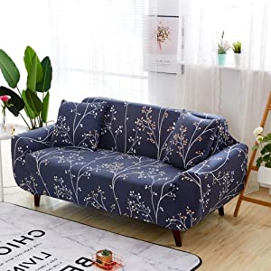 QYN Elastic Sofa Cover,one-Piece Anti-Slip All-Inclusive Couch Cover Four Seasons Universal L Shape Chaise Combination Furniture Protection-13 4 Seater