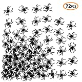 iFUNow Stretch Spider Webs, 4.23 Ounce (Covers 400 SqFt) with 72 Fake Spiders for Halloween Decorations, Outdoor and Indoor Halloween Decor, Spiderwebs, Spider Webbs, Cobb Webs, Cobwebs