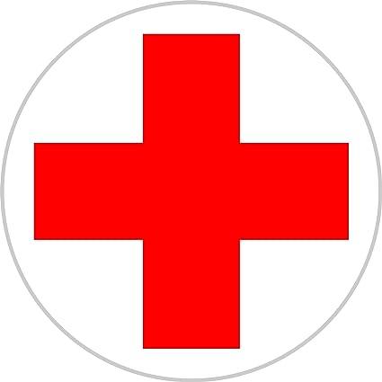 Rotes Kreuz   10 cm Verbandskasten DRK 1 Aufkleber