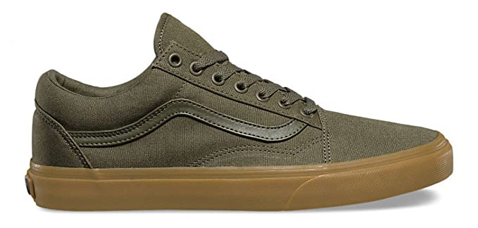 61b12cb288 Image Unavailable. Image not available for. Colour  Vans Old Skool Canvas  Gum Shoes (Ivy Green Light ...