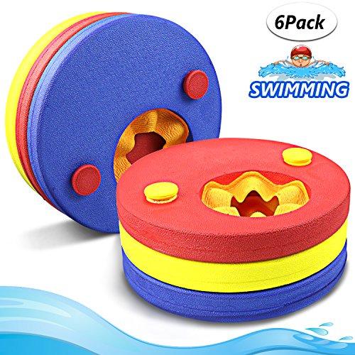Manguitos de natación para niños, hechos de espuma, varios colores flotador bebe piscina Discos Flotantes escuela que los aprendan a nadar cinta para brazo (...