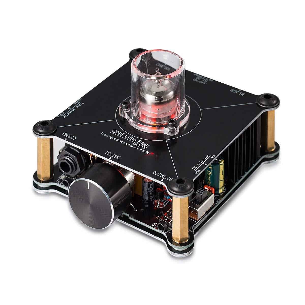 Nobsound Little Bear P10 HiFi MOSFET Class A 12AU7 Tube Multi-Hybrid Headphone Amplifier Stereo Audio Preamplifier Preamp R/öhren Kopfh/örer Verst/ärker Vorverst/ärker