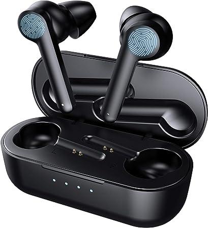 Bluetooth Kopfh/örer in Ear Kabellose Kopfh/örer Bluetooth 5.0 Headset mit HiFi Stereo Sound Integriertem Mikrofon IPX7 Sport Ohrh/örer 30 Std Spielzeit mit Typ-C Schnellladen Ladekoffer