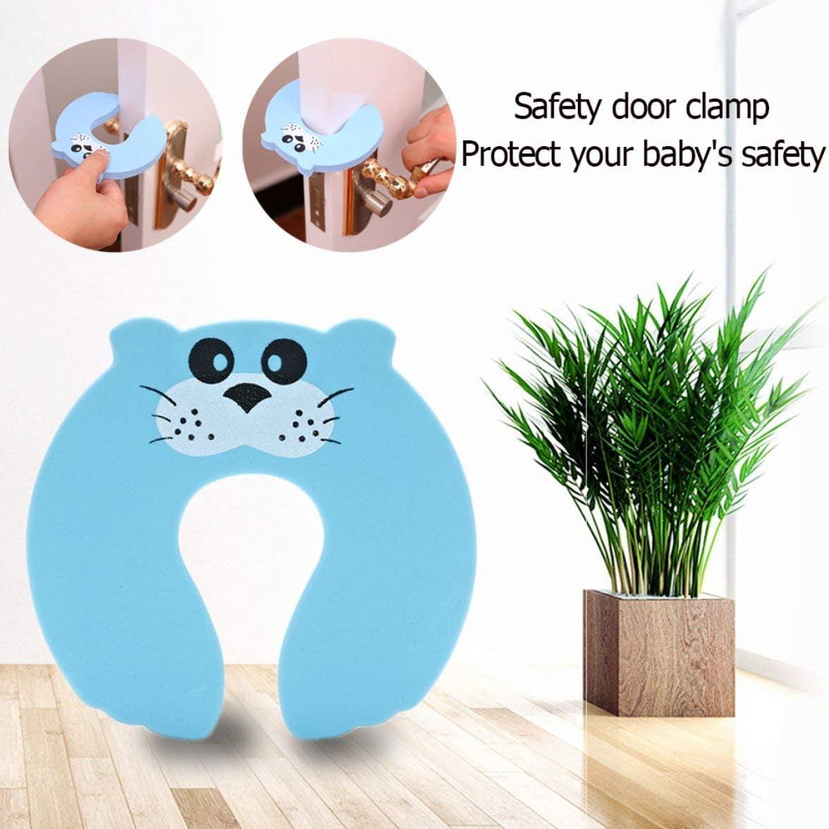 Sylvialuca 2Pcs Kids Baby Cartoon Animal Jammers Stop Door for Children Guards Door Stopper Holder lock Safety Finger Protector