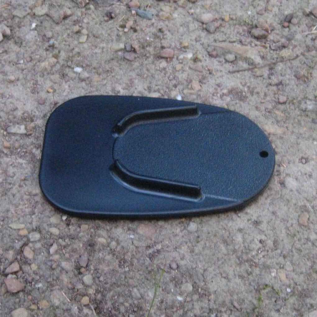 Morza Durable Plastic Motorcycle Kickstand Plate Bike Kick Stand Pad Black Motor Motorbike Plate Pad
