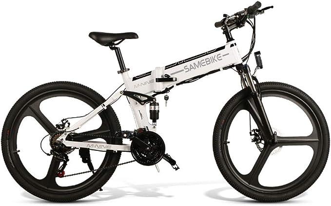 LEONMAR Bicicleta Eléctrica Plegable, 7.8Ah 36V EBike 250W con 25km/h de Velocidad Ajustable para Unisex Adulto, Faro LED Delantero Incluido y Ruedas (bikeES10): Amazon.es: Deportes y aire libre