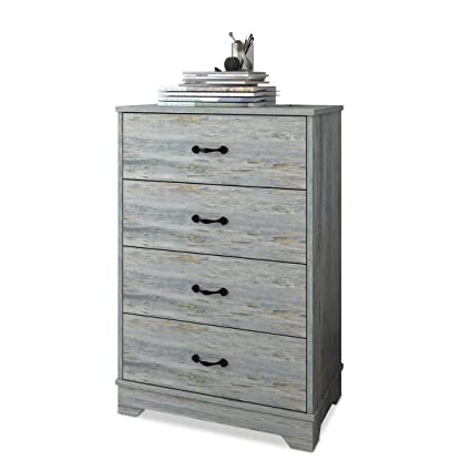 W Live 4 Drawer Chest Of Drawers Bedroom Dresser Wood Storage Cabinet