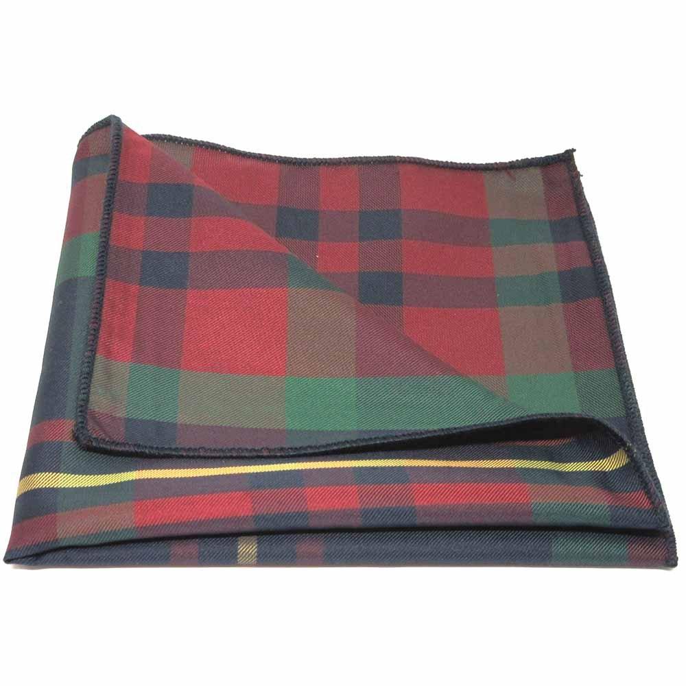 Traditional Red//Blue Tartan Plaid Check Pocket Square Handkerchief