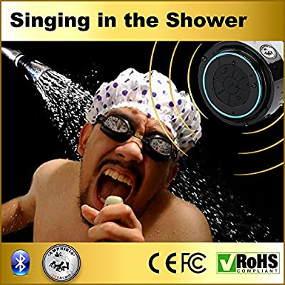 (Fathers Day Special 73% Off) 100% WATERPROOF, SHOCKPROOF & DUSTPROOF (OR MONEY BACK!) 5W The Best Bluetooth Shower Speaker - Premium Quality * Handsfree Receiver SPEAKERPHONE! * Portable, Wireless Submergible Audio Device. - * New Gen 2015 * IPX7 , High
