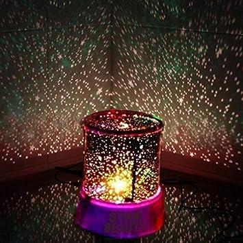 Hivel Luz de noche LED Estrella Iluminacion Proyector Lampara ...