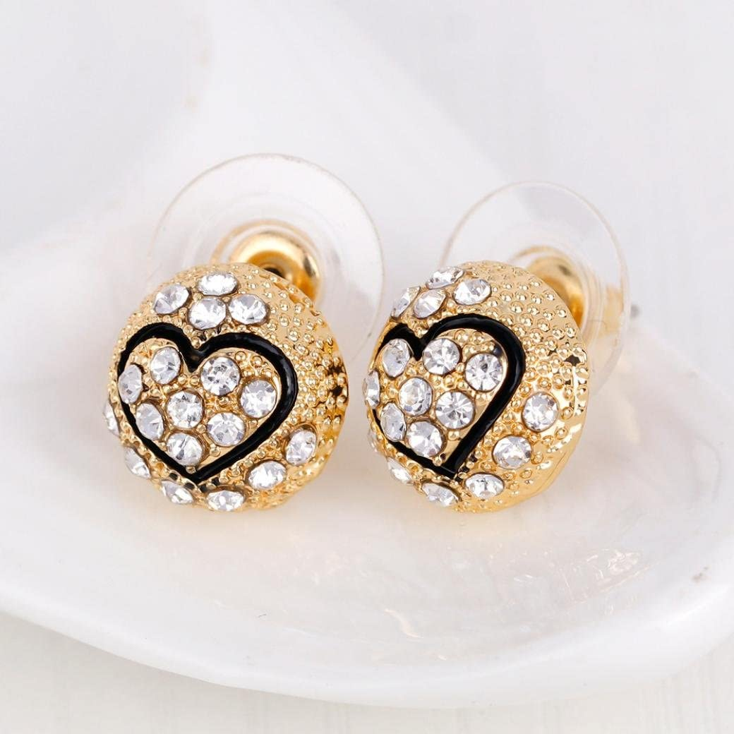 Gold B Personality Rhinestone Necklace Ring Lady Women SOMESUN Bracelet Earrings Jewelry Set