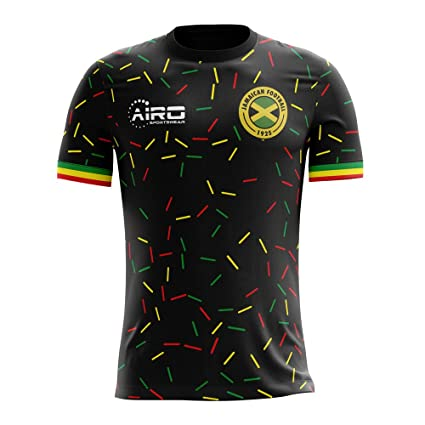 ab2a271b2 Image Unavailable. Image not available for. Color  Airo Sportswear 2018-2019  Jamaica Third Concept Football Soccer T-Shirt Jersey