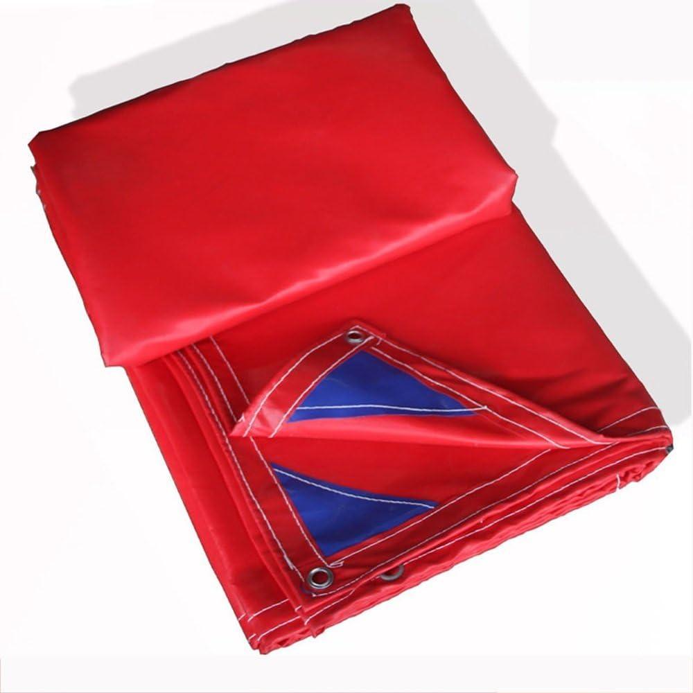 36-dianyejiancai outdoortentThickPVCブレインプルーフサンスクリーンキャンバスターポリントリックターポリンoutdoorm多機能シェードクロス (Color : 赤, サイズ : 5*10m) 赤 5*10m