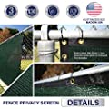 Windscreen4less Heavy Duty Privacy Screen Fence in Color Solid Green 6' x 50' Brass Grommets w/3-Year Warranty 130 GSM (Customized Sizes Available)
