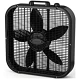 Lasko B20401 Decor Box Fan, 20 quot;, Black