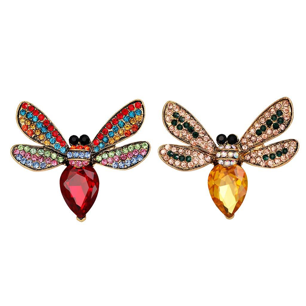 Frauen Perle Strass Entzückende Biene Insekt Brosche Charm