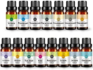 RAINBOW ABBY Therapeutic Grade Essential Oil Set, 10ml - Pack of 15