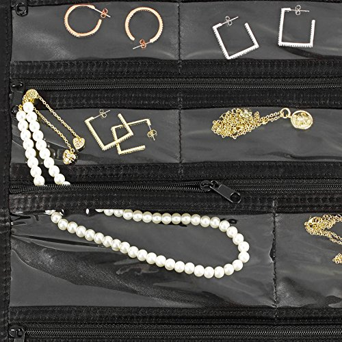 FloridaBrands 31-Pocket Hanging Jewelry and Accessory Organizer with Silver Hook - Black by FloridaBrands (Image #4)