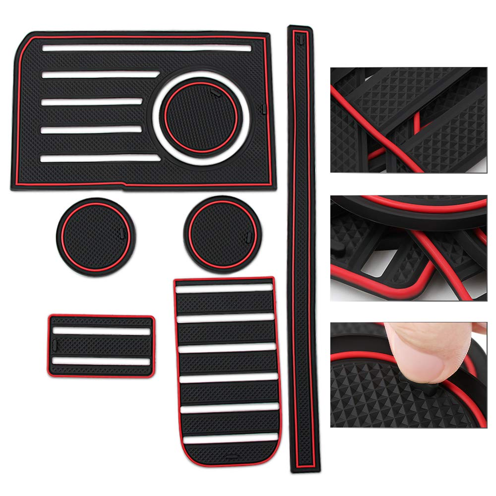 etopmia Car Non-Slip Gate Slot Pad Mat Interior Cup Holder Pad Automotive Decoration Fit Toyota Tundra 2014-2019 Accessories 4350406300