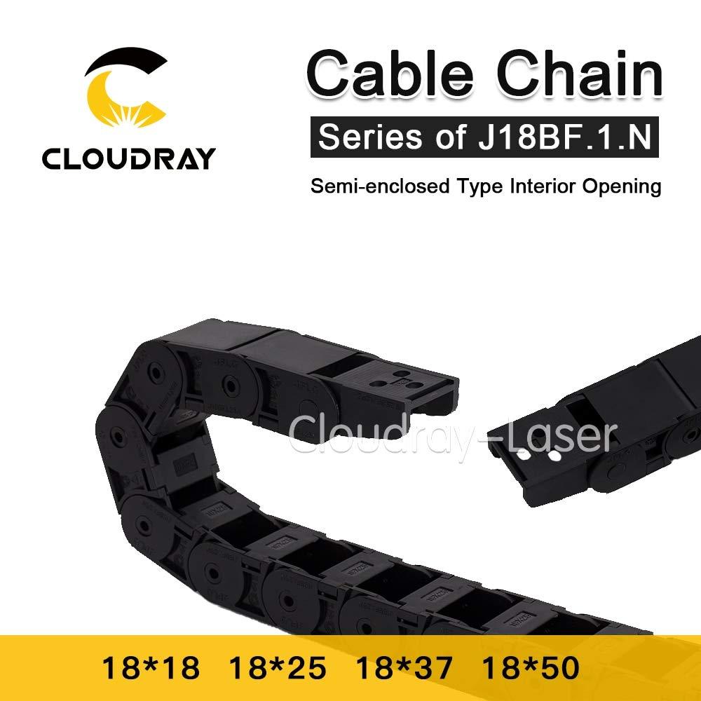 Ochoos Cable Chain Semi-Enclosed Interior Opening 18x18 18x25 18x37 18x50 Drag Plastic Towline Transmission - (Inner Size: 18x25 mm, Bending Radius: 60mm) by Ochoos