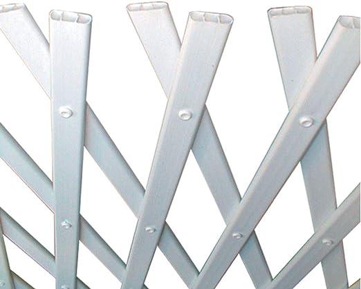 NORTENE celosía Extensible de plástico trelliflex 1 x 3 m – Blanco ...