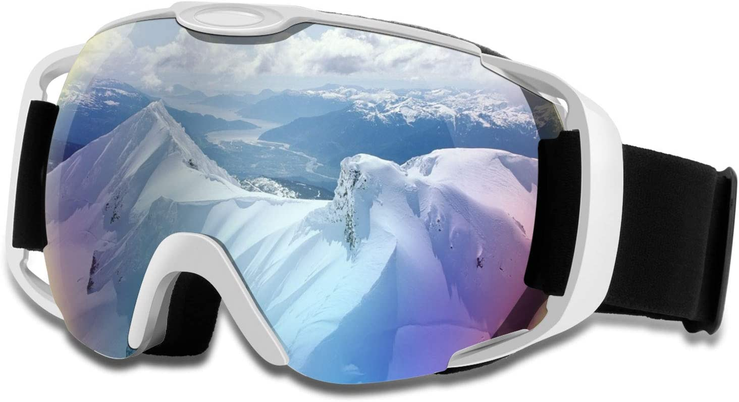 DONWELL Ski Goggles 100/% UV Protection Anti Fog Windproof Spherical Skiing goggles for Youth Adults Helmet Compatible OTG Snowboard Goggles for Men Women with Double Lens
