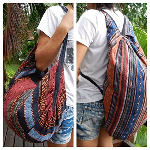 Handbag Backpack Shoulder Ikat Hippie Purse BTP Ik42 Hobo Bag Multicolor Handmade Cotton Hand Woven wxgpEEYR