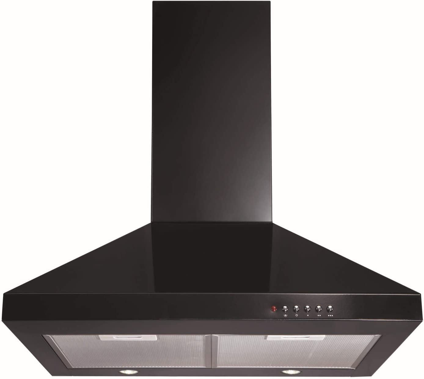 Campana extractora, de CDA, negra, de 60 cm de ancho, modelo ECH61BL: Amazon.es: Grandes electrodomésticos