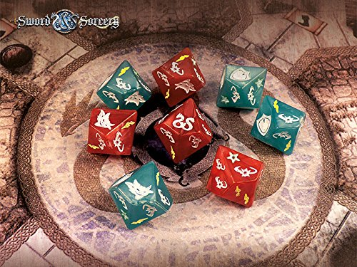 Sword and Sorcery: Custom Dice Pack (8) by Ares Games