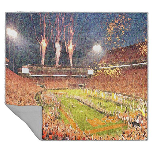 Personalized Corner Death Valley Sherpa Blanket for College Football Fans National (Clemson Tigers Soft Blanket)