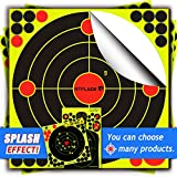 Atflbox Shooting Target 12Inch Bulleye Super Splatter and Adhesive Target.Shooting outdoor and indoor ranges.Rective shooting targets for Gun - Rifle - Pistol - AirSoft - Air Rifle for 25Pack