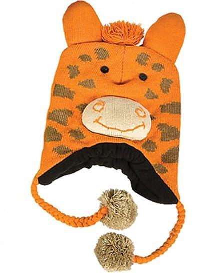 Amazon.com  Rhode Island Novelty Giraffe Hat Knit Winter Cap Toque Costume  Beanie Hat Orange  Clothing c8abd1d72b1
