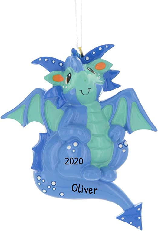 2020 Christmas Dragon Amazon.com: Personalized Blue Dragon Christmas Tree Ornament 2020