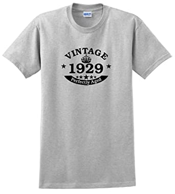 90th Birthday Candles Cards Gift Vintage 1929 Perfect Aged Crown T Shirt Small