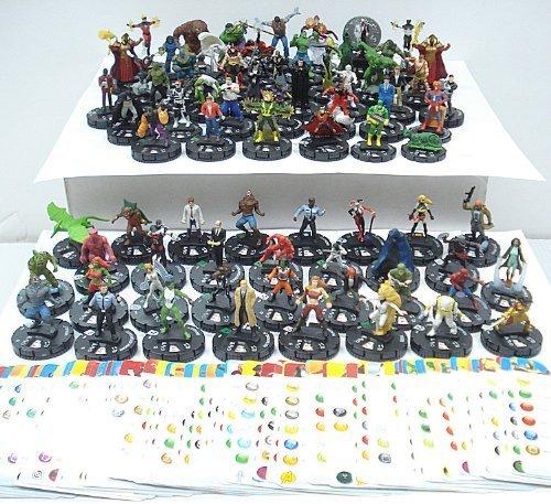 75 Heroclix Assorted Figures by - Marvel Heroclix