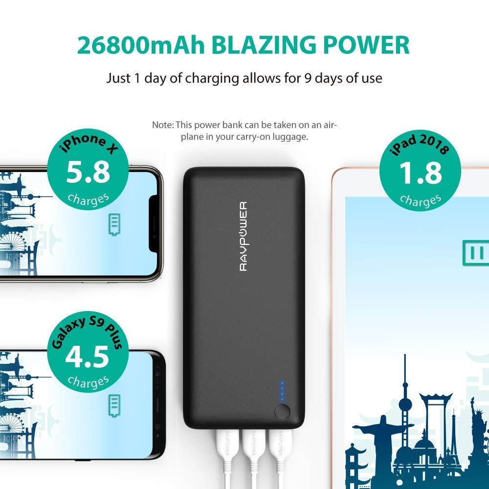 Power Banks Ravpower Portable Charger 26800mah 3 Port 1000 Images About Electronics On Pinterest Circuit Diagram