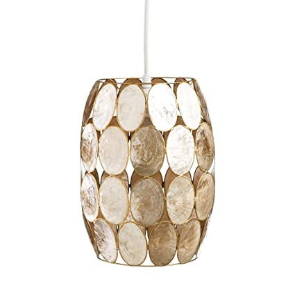 Lámpara de Techo de nácar Dorada de salón Vintage para ...