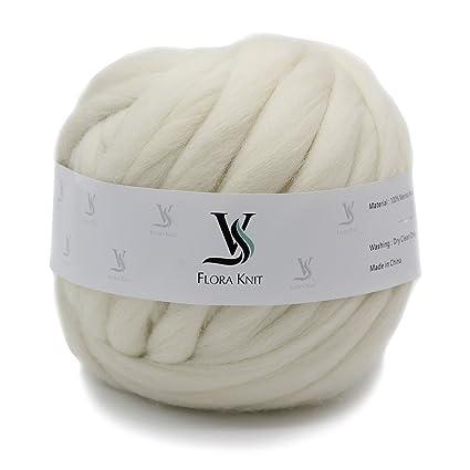 Amazon.com  Merino Wool Big Chunky Yarn - Bulky Roving Yarn for ... 118c4883c