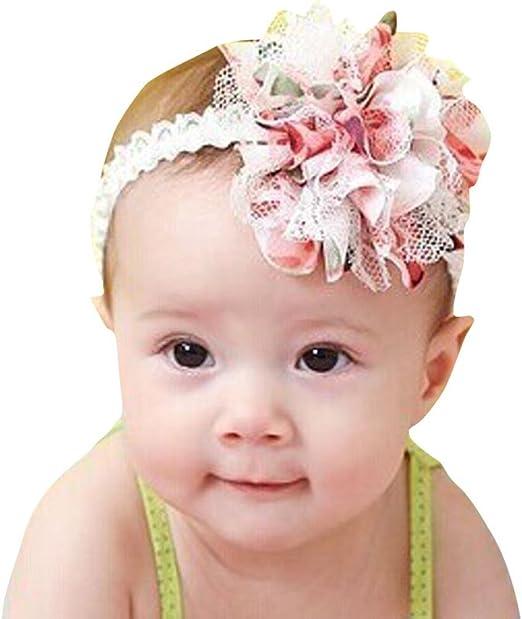 Baby Toddler Headband Hairband Soft Elastic Girls Flower Hair Band Headwear Gift