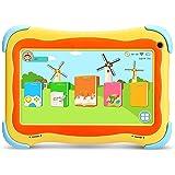 YUNTAB Q91 Tablet infantil de 7 pulgadas (Android 5.1, Quad-Core,Allwinner A33, WiFi, Bluetooth, HD 1024x600, 1+16GB , Tarjeta TF 32 GB, Doble Cámara, Google Play, Juegos Educativos) (Q91, YELLOW)