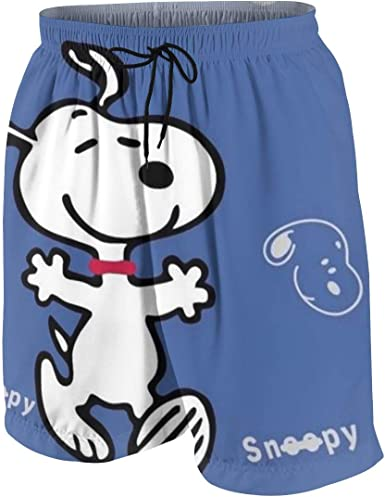 OINUNTN Swim Trunks Snoopy Quick Dry Beach Board Shorts Bathing Suit with Side Pockets for Teen Boys