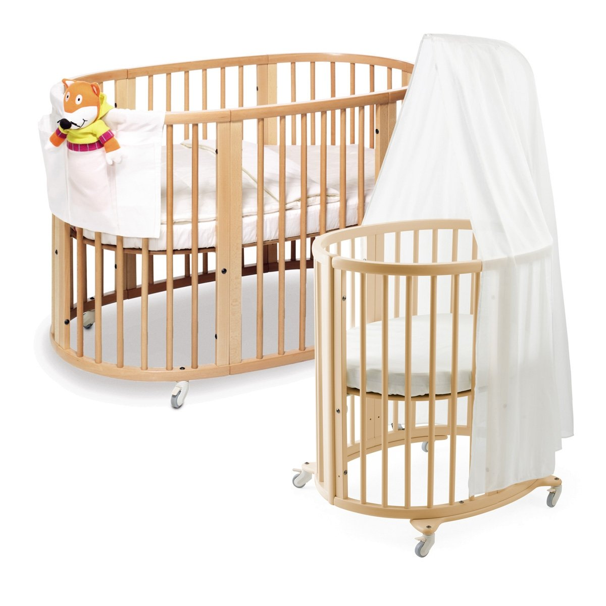 pin crib and bloom small mini foldable for alma urban baby cribs nursery portable spaces