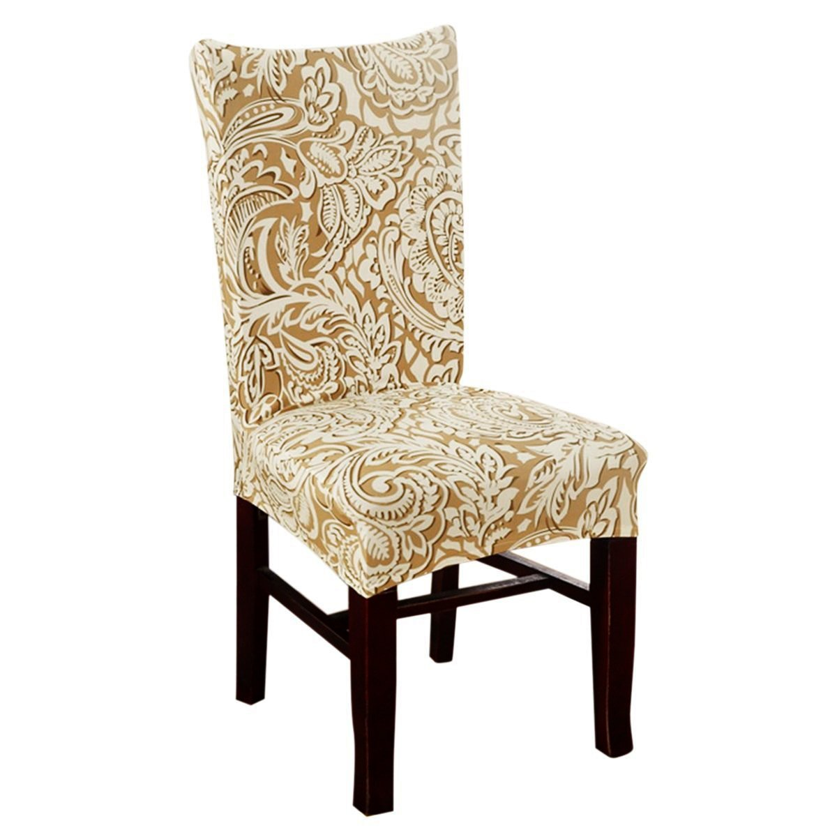 Deisy Dee Stretch Chair Cover Removable Washable for Hotel Dining Room Ceremony Chair Slipcovers Pack of 6 (D) by Deisy Dee (Image #2)