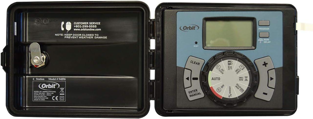 Orbit Easy-Set Logic 4 Programador Automatico para Sistemas de Riego, Negro, 4 Zonas