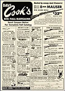 Amazon Com 1950 Ad From Dave Cooks Sporting Goods In